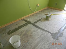 Life's Too Short To Live In Houston!: DIY Painted Plywood Floor