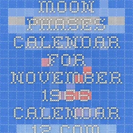 Moon Phases Calendar for November 1966 - Calendar-12.com