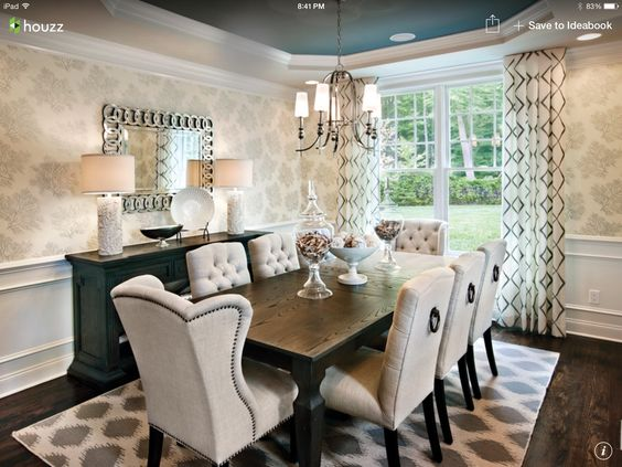 What a lovely dining room: