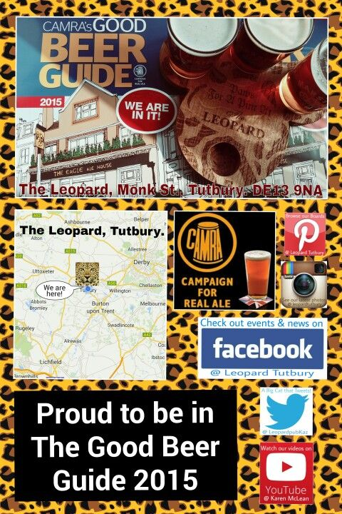 The Leopard Tutbury is proud to have earned a place in CAMRA's Good Beer Guide. Come & enjoy a pint of our quality, CAMRA approved, traditional Real Ales.