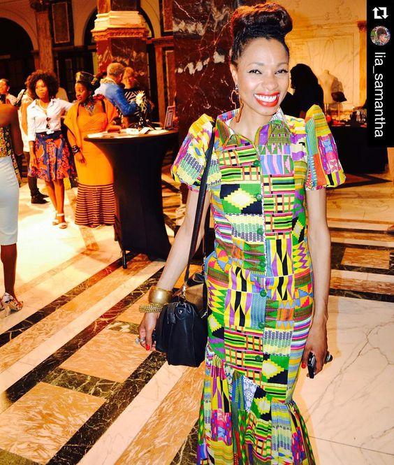 "In love with this #print #africa #kenteinspired #Africanfashion #Repost @lia_samantha with @repostapp.  Buenos días! #TBT #EveryDayAfro En el ""Africa Fashion Week Ámsterdam"" Memorias del 2015! by africafashionguide"