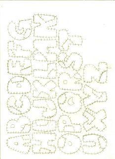 Letra de Patchwork   Criar e Pintar