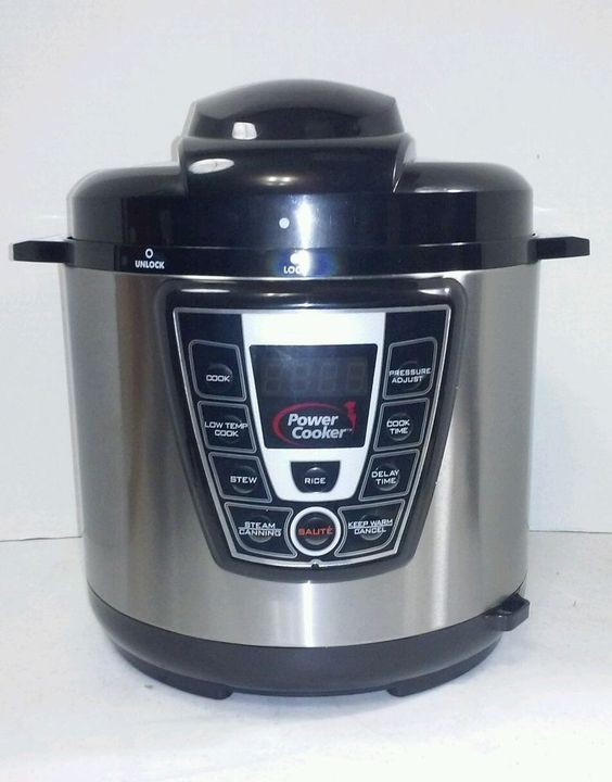 how to close power pressure cooker xl