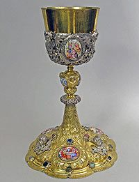 Eucharistic chalice with enamels 1694 germany augsburg for Kolb augsburg