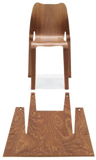 Timothy Schreiber - Plooop  Plooop chair in CNC-cut plywood by Timothy Schreiber, 44-7748-562949; timothy-schreiber.com.