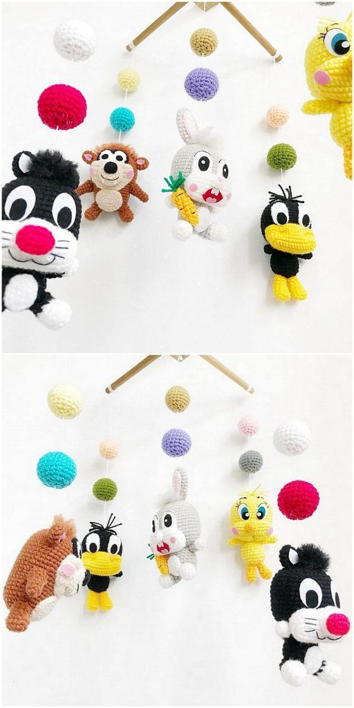 Looney tunes amigurumi, crochet, bugs bunny, daffy duck, sylvester ... | 1024x512