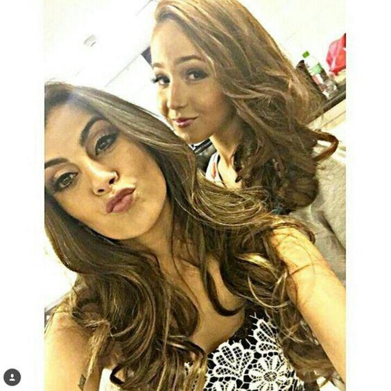 Nah Cardoso & Dublê Da Larissa Manoela (Mharessa Fernandes)☺❤☝☝