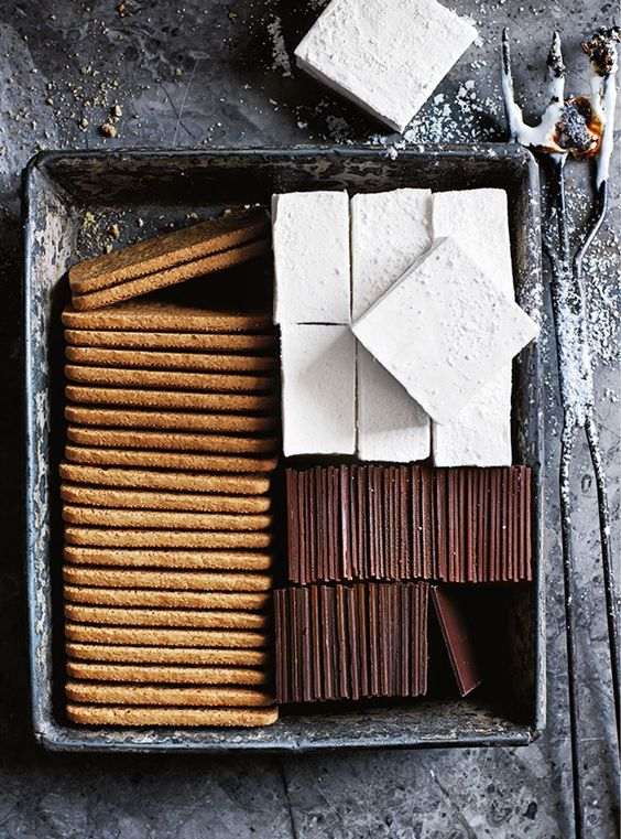 Pack up everything you need to make s'mores in a cute little tin to make them even more special
