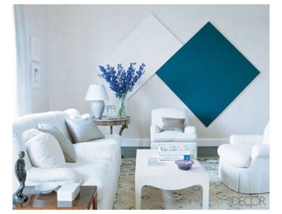 Pictures of Living Rooms with Colorful Accents - ELLE DECOR