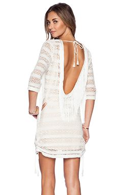 Spell & The Gypsy Collective Route 66 Mini Dress in Cream