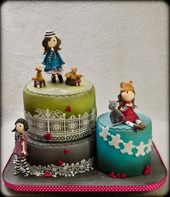 Cake Art By Suzanne : Gorjuss cake ( inspired by the artist suzanne woolcott meryshik Party Ideas Pinterest Cute ...