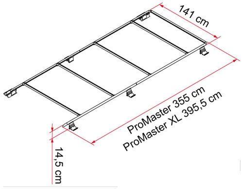 Fiamma 05808 02 Dodge Promaster Xl Long Wheel Base Roof Rack Roof Rack Roof Rails Dodge