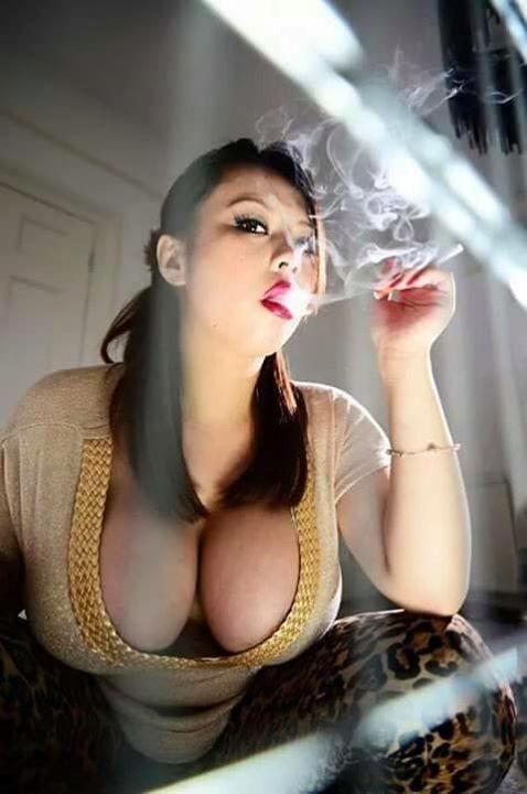 Fetish busty smoking