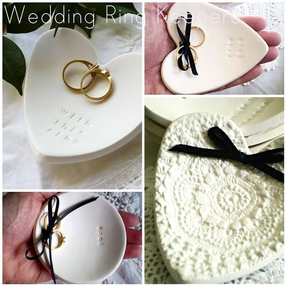 Tree of Love -  Round Wedding Ring Keeper