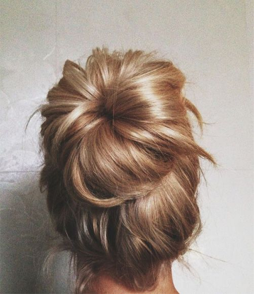 Unique High Messy Bun