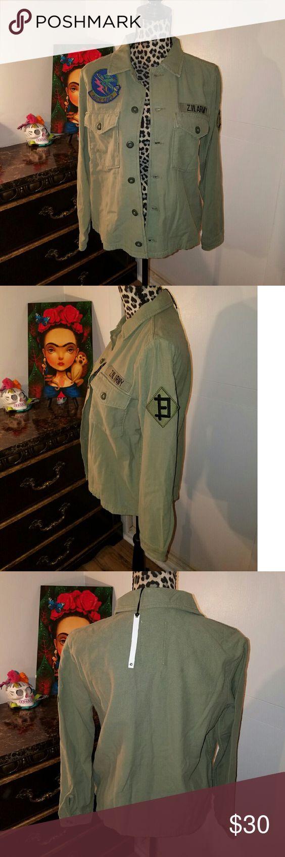 Zara Women's Jacket New Zara women's military style jacket Zara Jackets & Coats