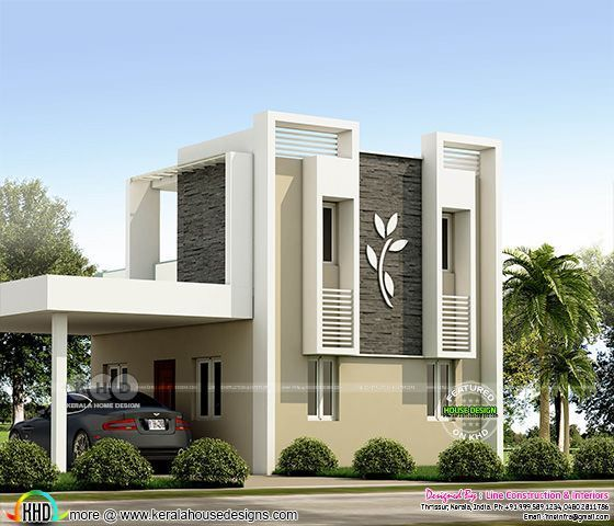 Low Cost 4 Bedroom 820 Square Feet Home Modern Small House Design Small House Design Exterior Kerala House Design
