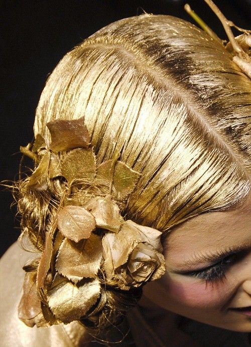 golden hair