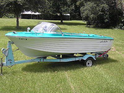 Lone Star Fiberglass Boat 1965 In Outboard Motor Trailer Original
