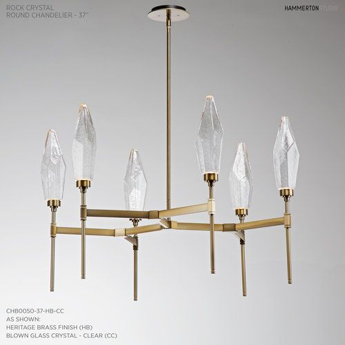 Round Rock Crystal Chandelier The Natural Beauty Of Quartz Paired
