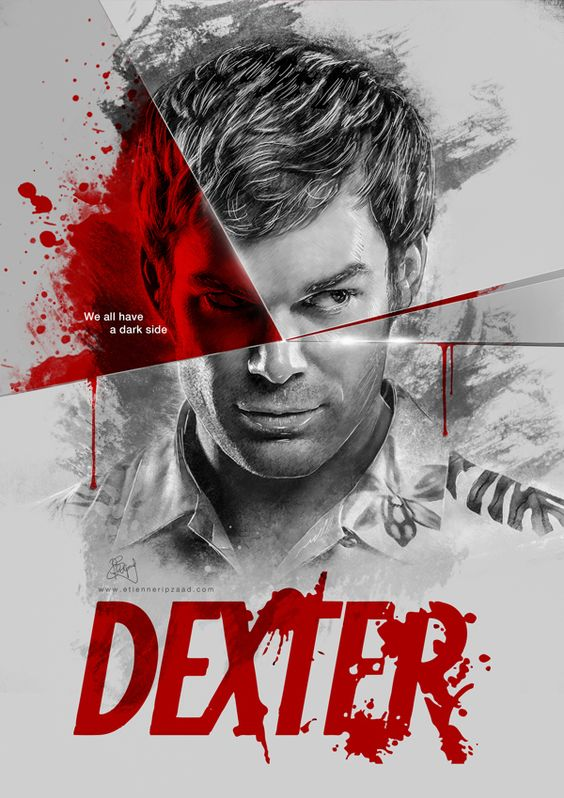 "Dexter - ""We all have a dark side"" by Etiënne Ripzaad, via Behance This is perfect"