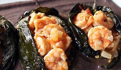 Chiles+jalapeños+o+güeros+rellenos+de+camarón