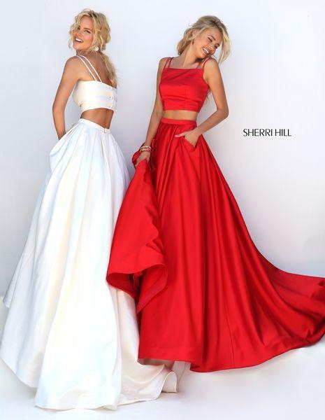 Red prom dresses sherri hill maroon