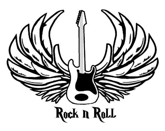 Rock and roll coloring pages free ~ For Randy, who is Rockin' N Rollin' in heaven. | Things ...