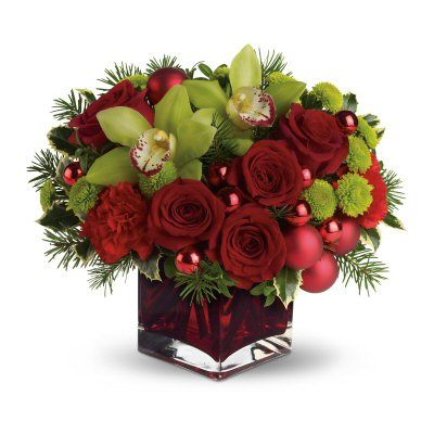 Holiday floral centerpieces christmas floral Christmas orchid arrangements