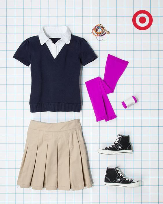 Target shows you how to dress up your school uniforms.