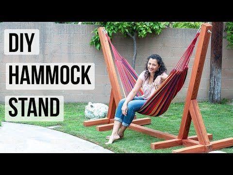 Easy Diy Hammock Stand Using 3 Tools Diy Hammock Hammock Stand Hammock Chair Stand Diy