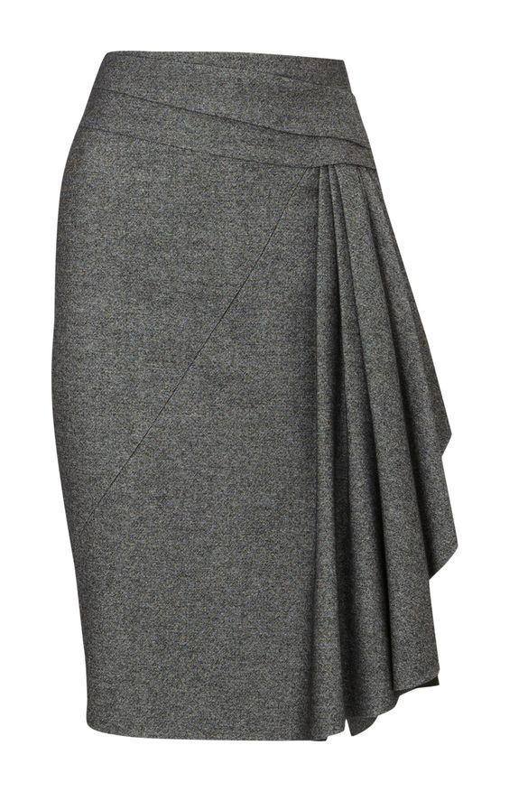 twisted tweed skirt - karen millen