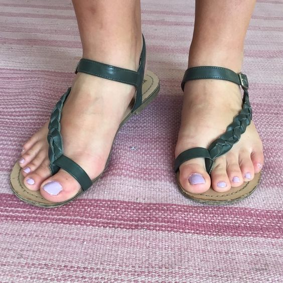 Braided teal sandals  prices: 1- $7 //////// 2- $6 each ///////// 3- $5 each. If you purchase any other item in my closet, I will include an item with the symbols  for free!!! Just let me know when you purchase.Perfect casual sandals for summer. Well worn Mossimo Supply Co. Shoes Sandals