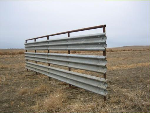 Livestock Steel Used Thrie Beam Guardrail For Strong And