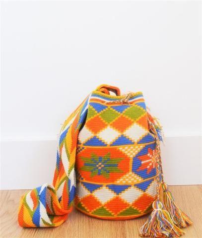 wayuu mochila bag orange