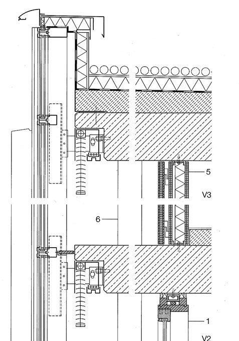 Detal Na Ramen Krov I Plafon In 2020 Curtain Wall Detail Curtain Wall Roof Detail