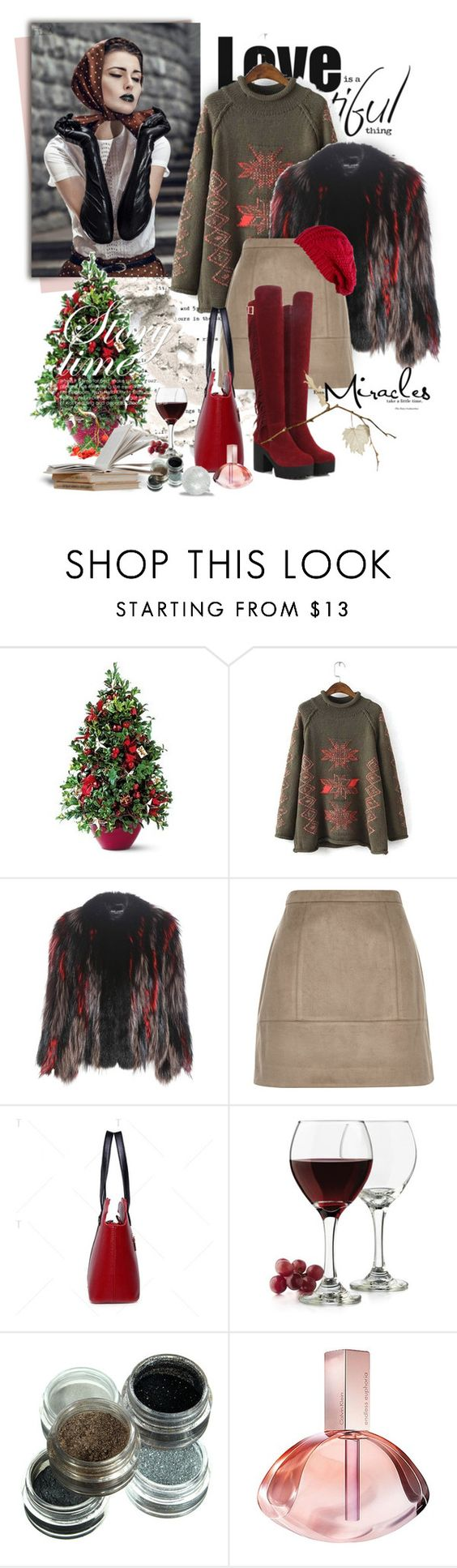"""""""Без названия #2322"""" by ksenia-lo ❤ liked on Polyvore featuring Dolce&Gabbana, River Island, Libbey and Calvin Klein"""