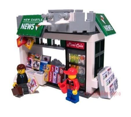 LEGO New Castle News Stand (Lego Asia: Lego City MOC by brickbuilderpro)