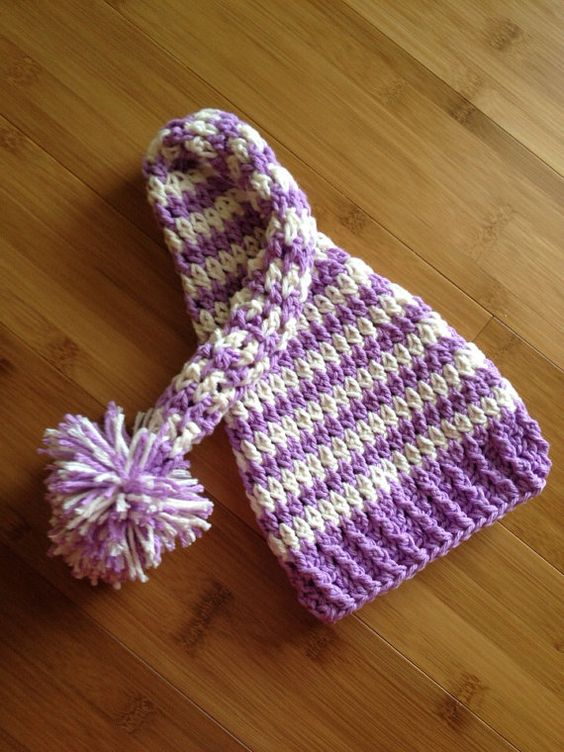 Infant Baby long stocking pixie hat by LjsCrochetedTreasure, $22.00