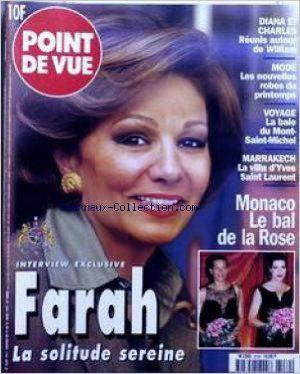 Amazon.fr - POINT DE VUE [No 2539] du 19/03/1997 - DIANA ET CHARLES REUNIS AUTOUR DE WILLIAM - MODE - VOYAGE - LA BAIE DU MONT-SAINT-MICHEL - MARRAKECH - LA VILLA D'YVES SAINT LAURENT - MOANCO LE BAL DE LA ROSE - FARAH - LA SOLITUDE SEREINE. - Collectif - Livres