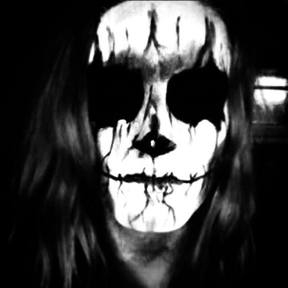 Halloween makeup attempt. Evil demon