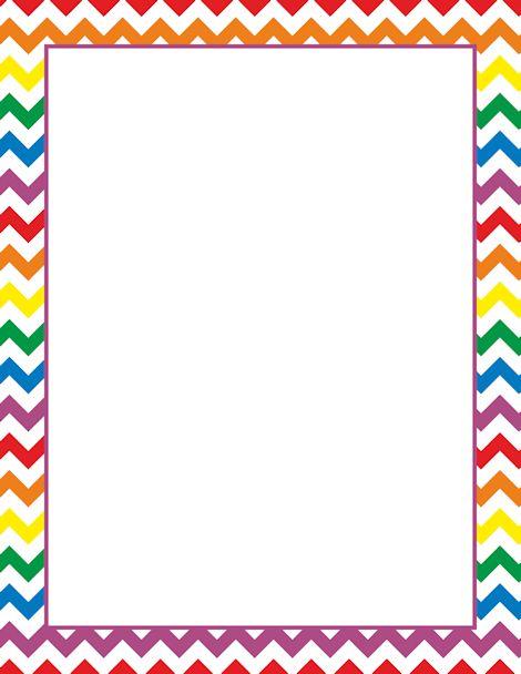 Printable Rainbow Chevron Border Free GIF JPG PDF And