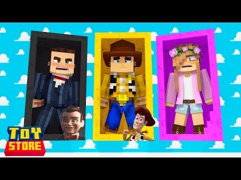 Toy Story 4 Dolls Arrive To The Store Minecraft Toy Store