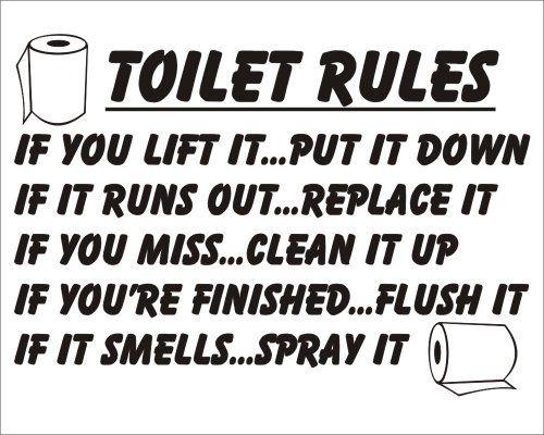 Jokes toilets and stickers on pinterest for Bathroom jokes