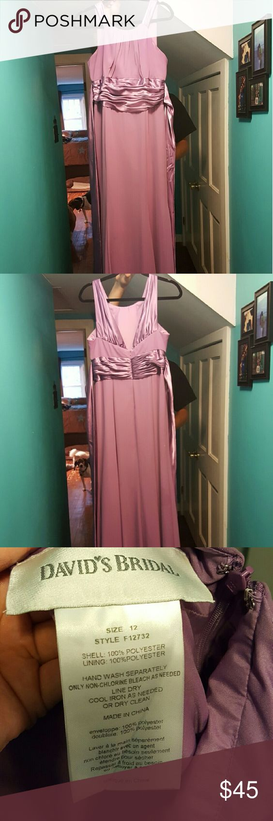 Worn once Davids bridal size 12 bridesmaid/prom dress David's Bridal Dresses Prom