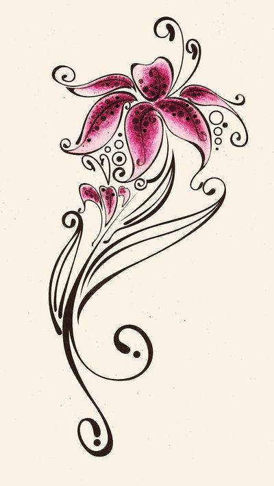 Lily Tattoo Line Drawing : Lily tattoo add in quot just breathe for my wrist tat if