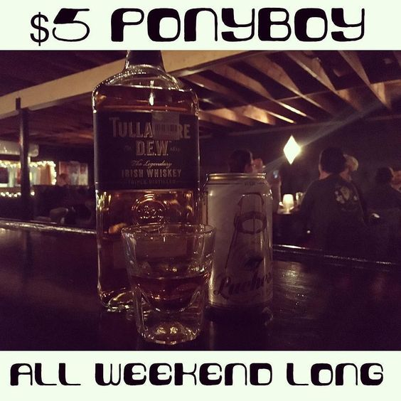 GET READY: We're celebrating our one year anniversary weekend with $5 Ponyboys Thursday-Sunday // An @oasistxbrewing Luchesa Lager & a shot of @tullamoredew. by staygoldaustin