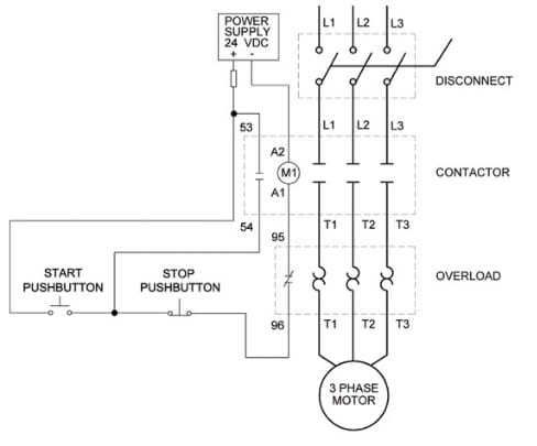 3 Phase Contactor With Overload Wiring Diagram Pdf