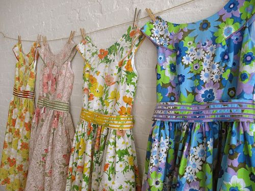 Sohomade dresses made from vintage textiles...