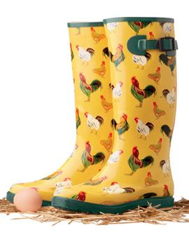 Chickens & gum boots!!! A perfect combo! these are the cutest: